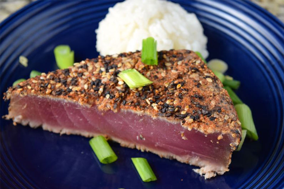 Spiced Rubbed Ahi Steak